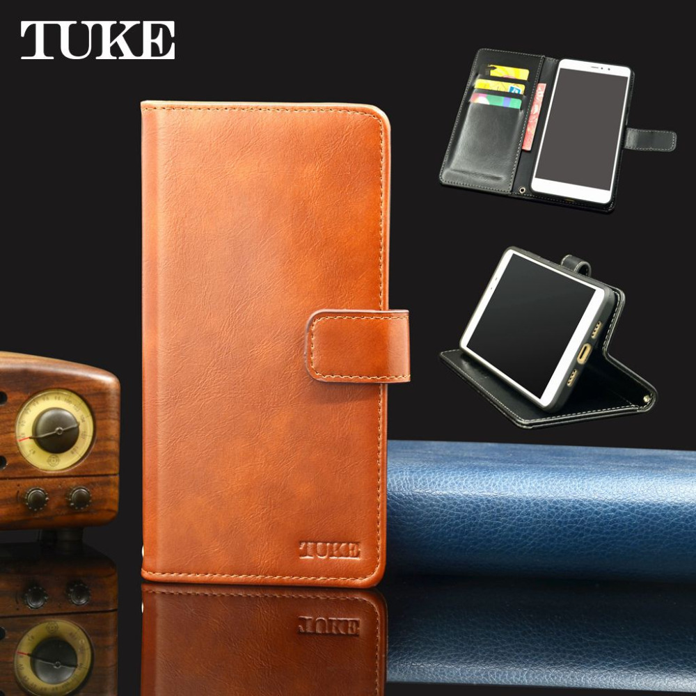 Cookie Wax Platinum: TUKE For Vodafone Smart V8 Case Oil Wax Leather Cover For