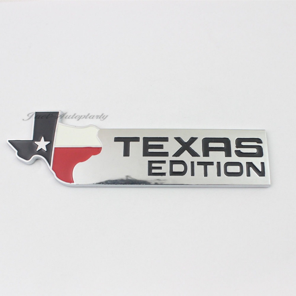 Auto 3d chrome texas edition emblem decal badge sticker for ford china