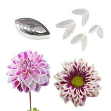 Силиконовая форма и резак для цветов dahlia veiner набор украшения