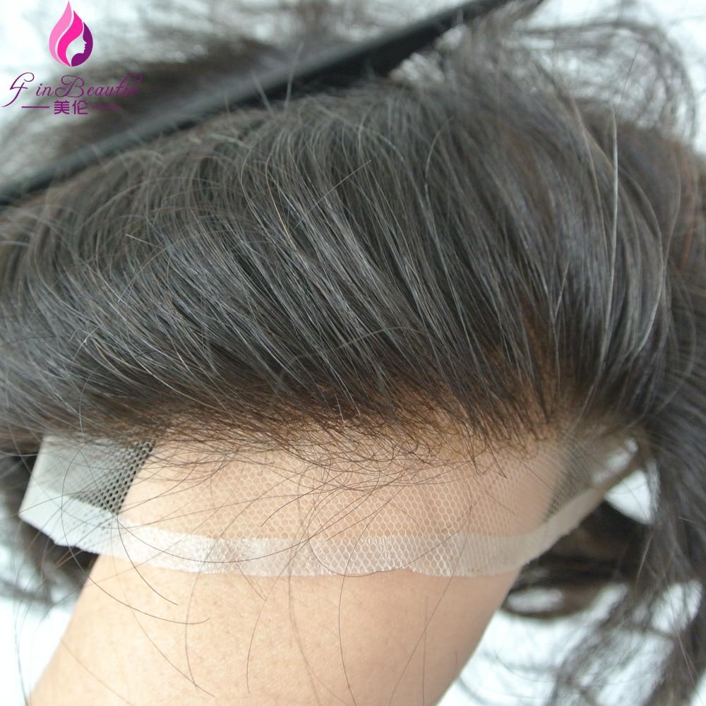 4 In Beautie European Hair Texture Toupeetoupet Bleached Knots
