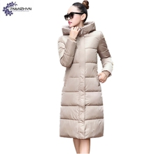 TNLNZHYN Women's cotton coat 2017 winter new fashion large hooded long-sleeved thickening warm female cotton Outerwear TT605