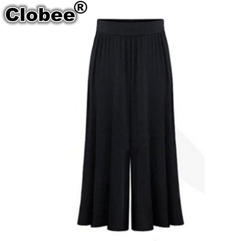 e7448d3bdb4dd Clobee 2018 Plus size XL-6XL Summer Women Clothing Wide Leg Loose Dress Pants  Female