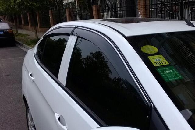 4pcs Door Sun Window Visor Deflectors Rain Shield Sun Guard For Chevrolet Malibu 2013 2014 2015