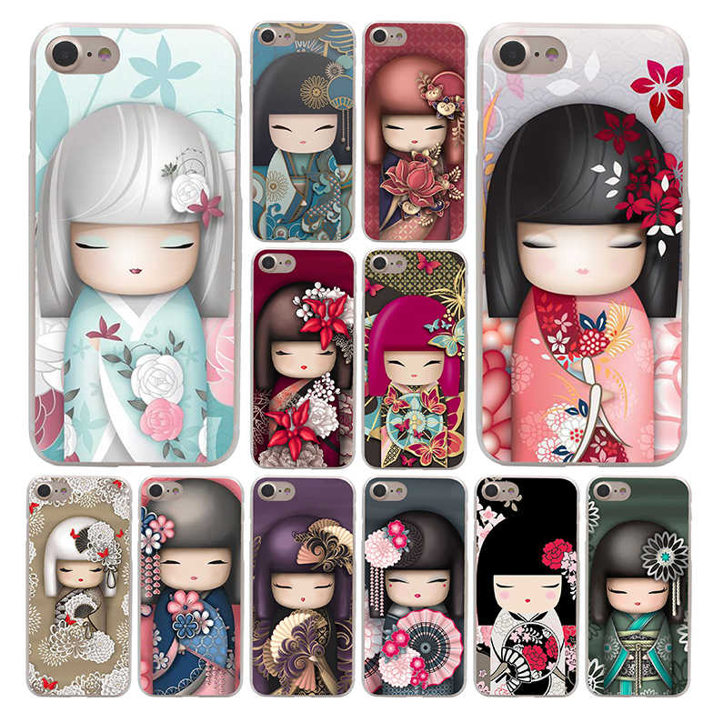 Moda Japonesa Kokeshi Phone Case para Apple iPhone 4 Lavaza 4S 5C 5S SE 6 6 S 7 8 Plus 10 X Xr Xs Max 7 6 Plus Plus