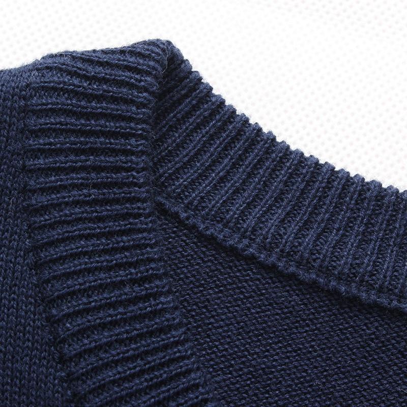 striped slim sweaters collar