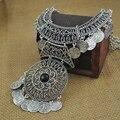 Joya de la vendimia Collar Gargantilla Declaración Collar de La Joyería Bohemia Moda Borla Moneda Étnica Gitana Maxi Collares Mujeres 12 Unids Lot