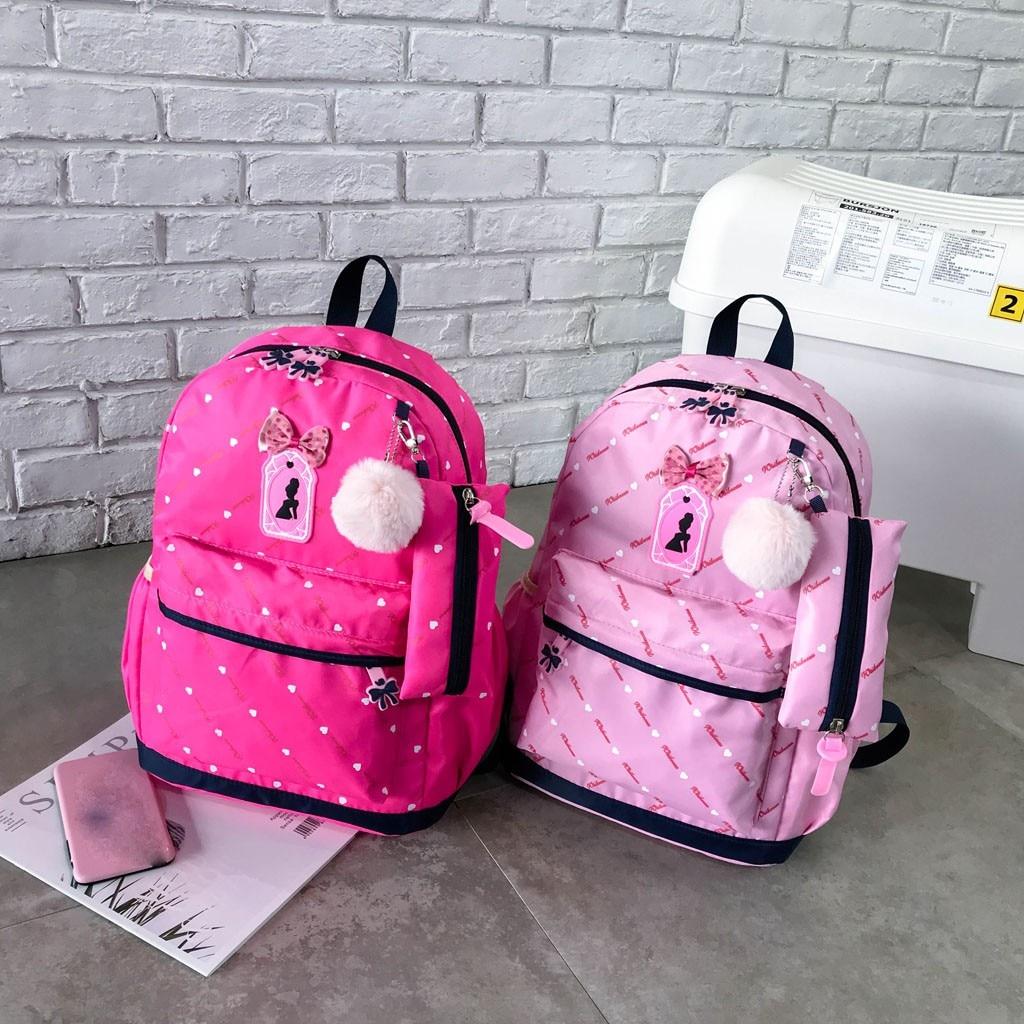 Women Bow Canvas Three-piece School Bag 36
