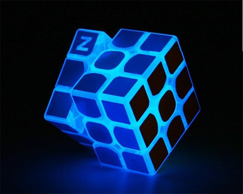 3 * 3 * 3 Mavi Aydınlık Pürüzsüz Hız neo Küp Çocuk Bulmaca - Oyunlar ve Bulmacalar - Fotoğraf 1