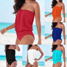 Multi-color Multi-code Tube Top Strapless Sexy One-piece Swimsuit Beach Wind Jumpsuit 1x angular 30 degree one piece multi unit abutment for internal hex dental implants bio effect top quality
