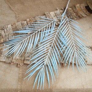Image 5 - 70cm Palm leaf coconut leaf Artificial plants fake flower wedding party Christmas home decoration DIY