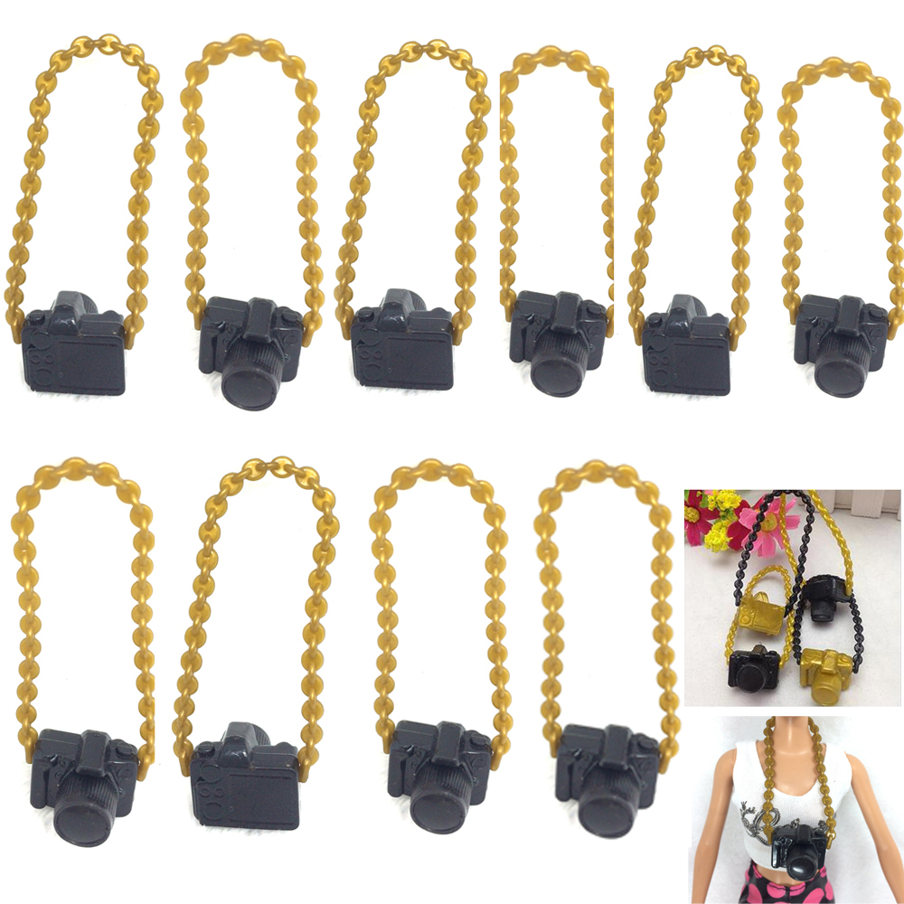 NK 10 Pcs New Fashion Doll Accessories Plastic Camera For Barbie Doll Camera For BJD Doll For Monster high Doll Toys Wholesale image