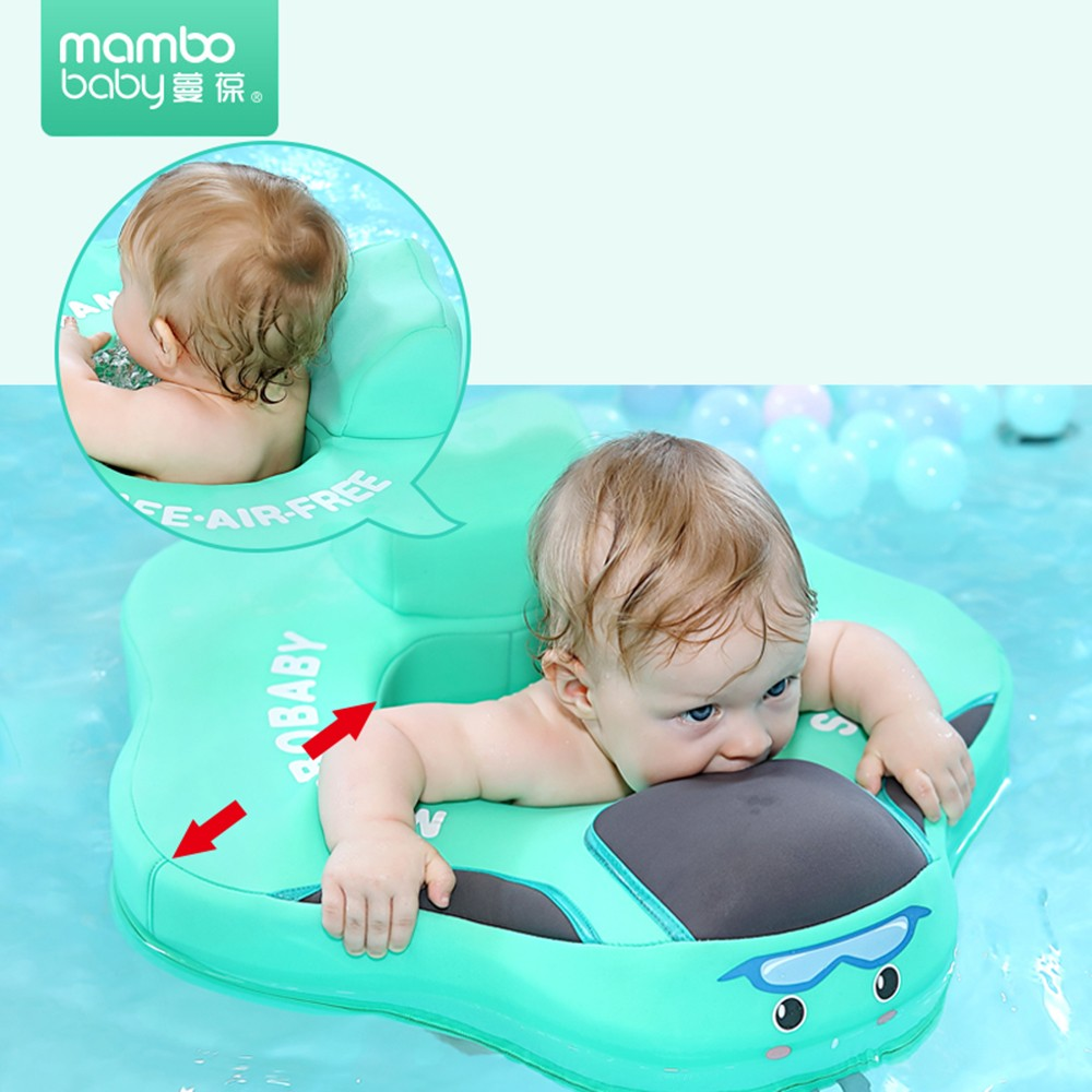 Mambo Baby Float Lying Swimming Ring Infant Soft Solid Non-Inflatable Swim Trainer Children Waist Float Ring Floats Pool Toys