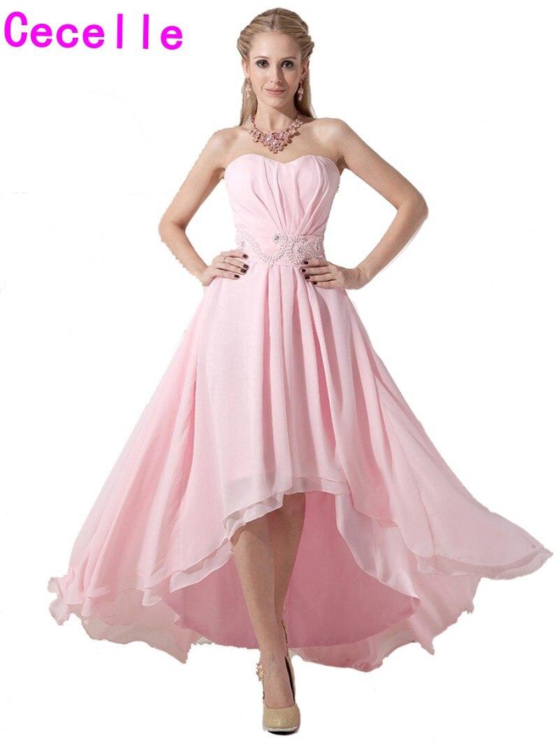 2017 real alto bajo Vestidos de dama de honor sweetheart moldeado ...