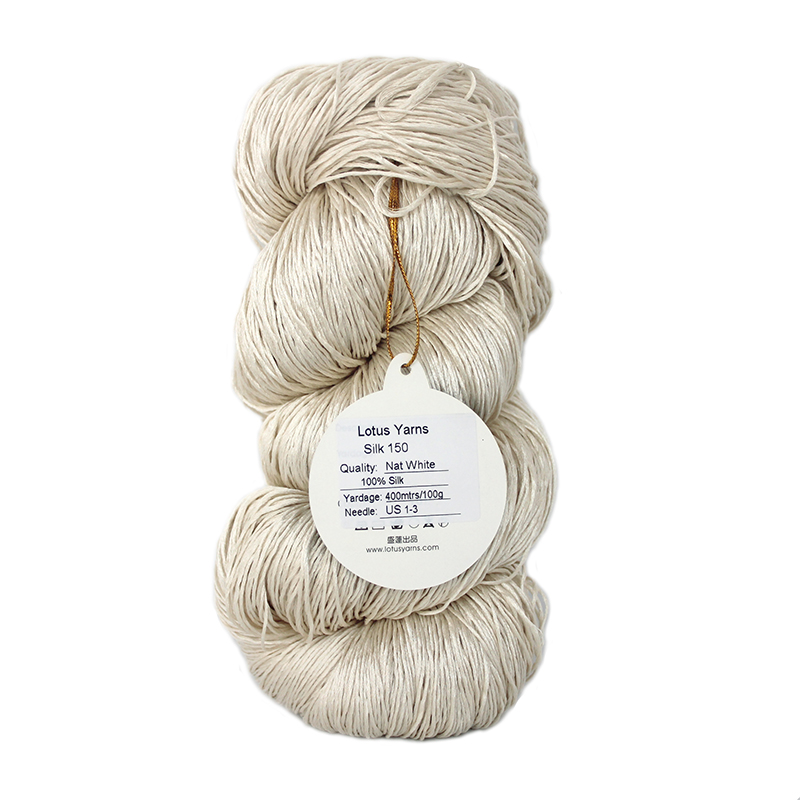pure silk yarn  hand knitting yarn natural color undyed yarn silk 150pure silk yarn  hand knitting yarn natural color undyed yarn silk 150