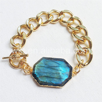 WT-B247 Wholesale stone bracelet ,big fashion labradorite bracelet for women nice quality labradorite bracelet  jewelry making