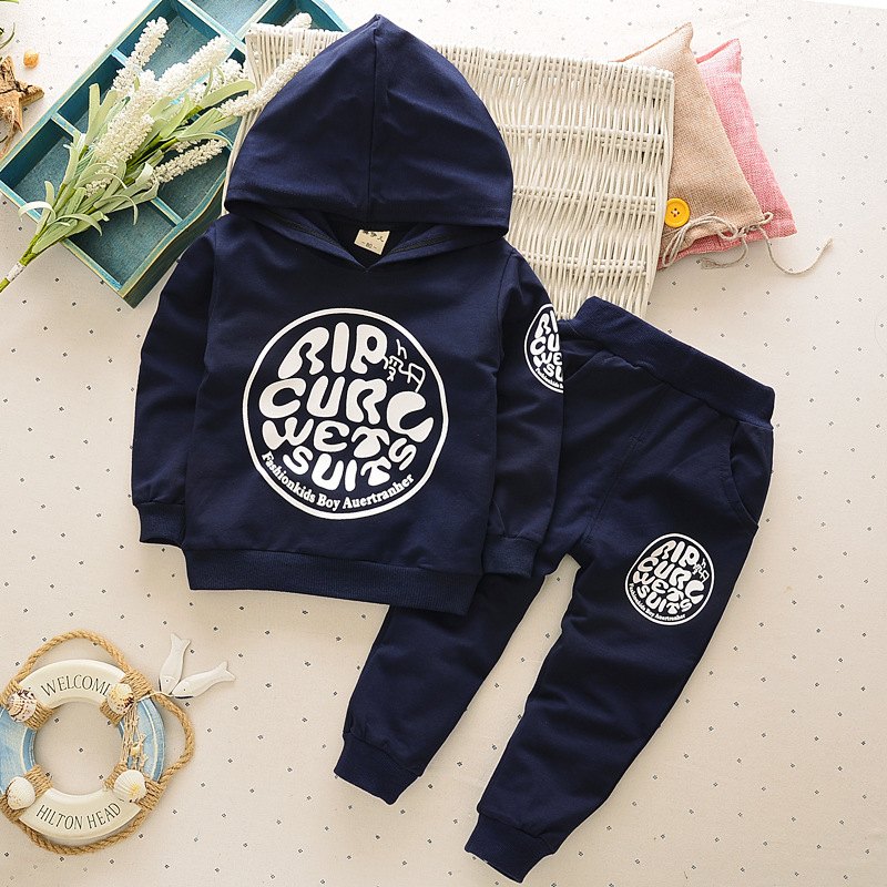 The spring and autumn baby Hoodie long sleeved suit 1 male 0-4 year old boy 3 out of 2 sets of two Korean pants the 1 000 year old boy