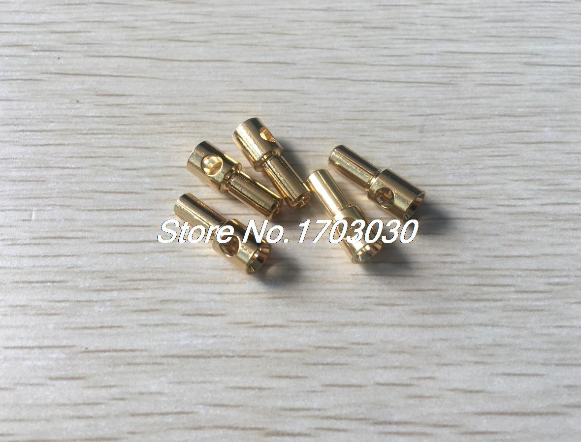 5 Pcs Gold Tone Plated 5mm Inside Dia Male Banana Plug Bullet Connector areyourshop hot sale 20 pcs 2mm 5 color gold plated banana plug connector