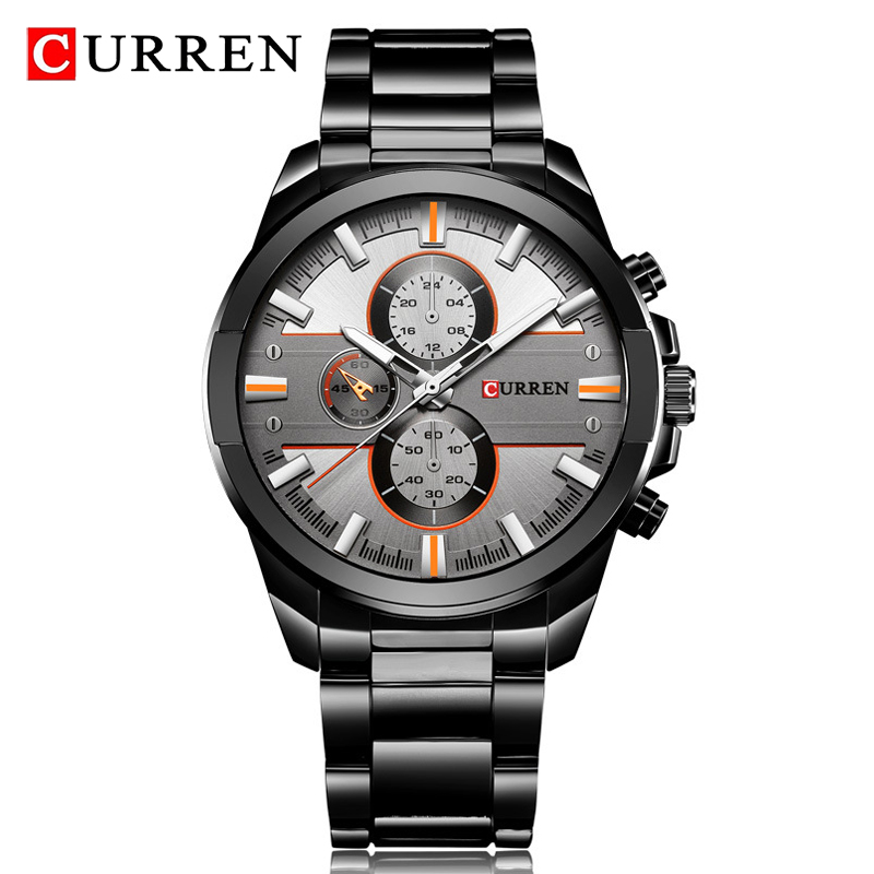 Men Watch Luxury Brand <font><b>CURREN</b></font> Mens Full Steel Army Watches Waterproof Watch Quartz Analog 2020 New Relogio Masculino image
