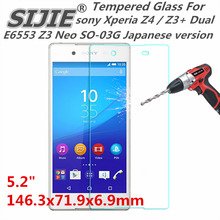 Tempered Glass For sony Xperia Z4 Z3+ Dual E6553 Z3 Neo SO-03G Japanese version 5.2 inch Screen protective cover case 9H thin держатель двух sim карт sony xperia z3 dual z4 dual