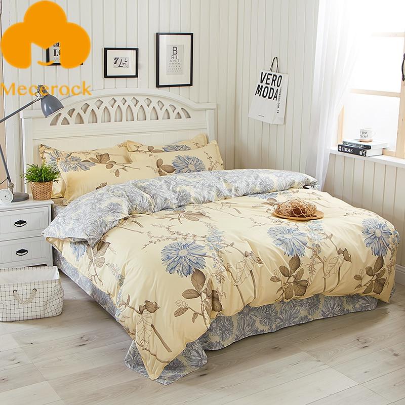 mecerock floral pattern bedding set girls duvet cover set with flat sheet pillowcases twin full. Black Bedroom Furniture Sets. Home Design Ideas