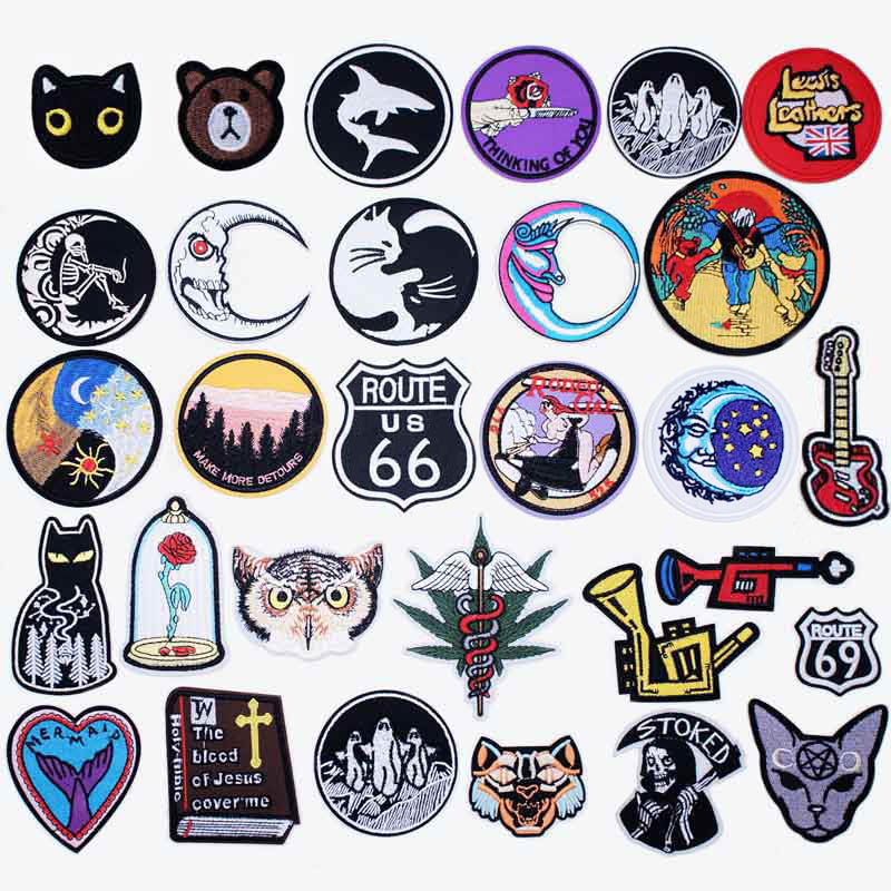 Good Night Iron On Patches Badges For Sew Seam Tailoring Clothes Suits Of Coat Jacket Trousers T-shirt Pants Ornament Apparel