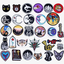 Good Night Iron On Patches Badges for Sew Seam Tailoring Clothes Suits of Coat Jacket Trousers T-shirt Pants Ornament Apparel(China)