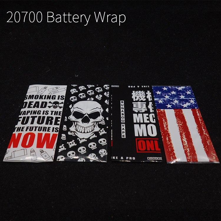 10pcs/lot battery case for 20700 21700 battery wrap battery covering Heat Shrink Tubing Sleeving usa flag skull design Батарея
