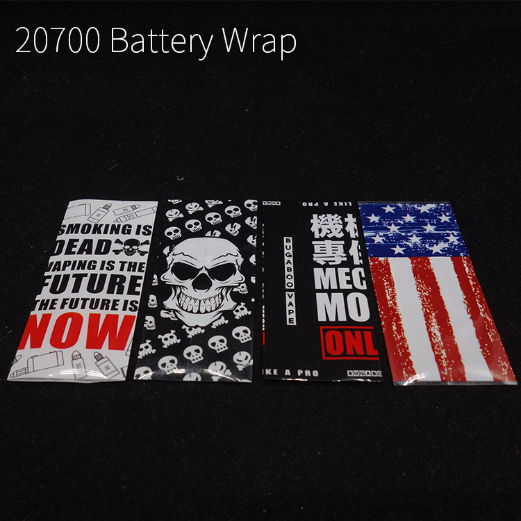 10pcs/lot Battery Case For 20700 21700 Battery Wrap Battery Covering Heat Shrink Tubing Sleeving Usa Flag Skull Design