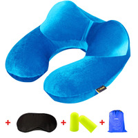 Easy To Carr Light U Shape Inflatable Travel Pillow Neck Pillow Comfortable Air Pillows For Sleep