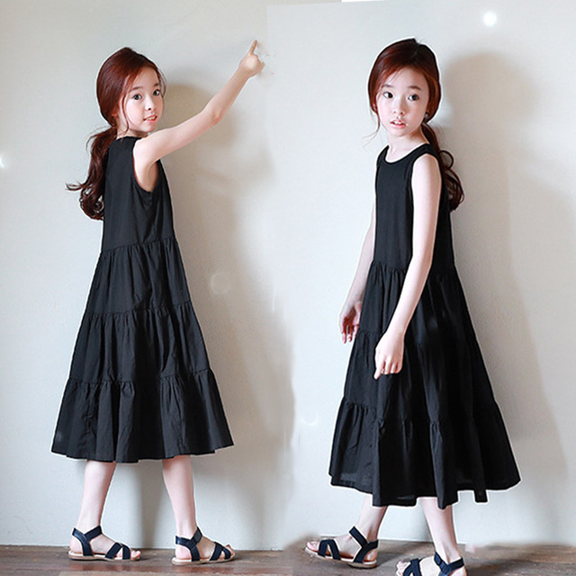 ed37bdb94aae Kids Dresses for Girls 2018 Summer Beach Dress Girls Bohemian Dresses  Floral Elegant Girl Casual Dress Age 4 5 8 10 12 14 Years