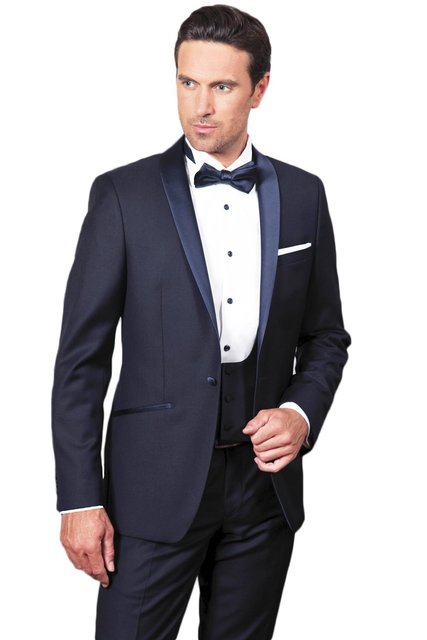 1f7418503a JinXuanYa hombres Shawl Lapel boda trajes 3 unidades hombres trajes novio  chaqueta chaleco pantalones