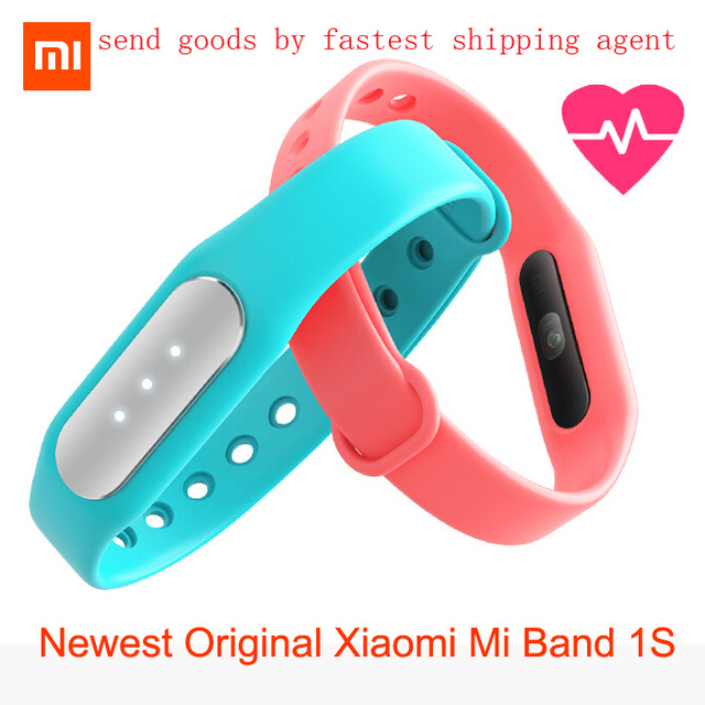 Newest Original Xiaomi Mi Band 1S featured heart rate monitor new smart wristbands for iPhone Xiaomi Mi4 Mi4i Android 4.4 phone