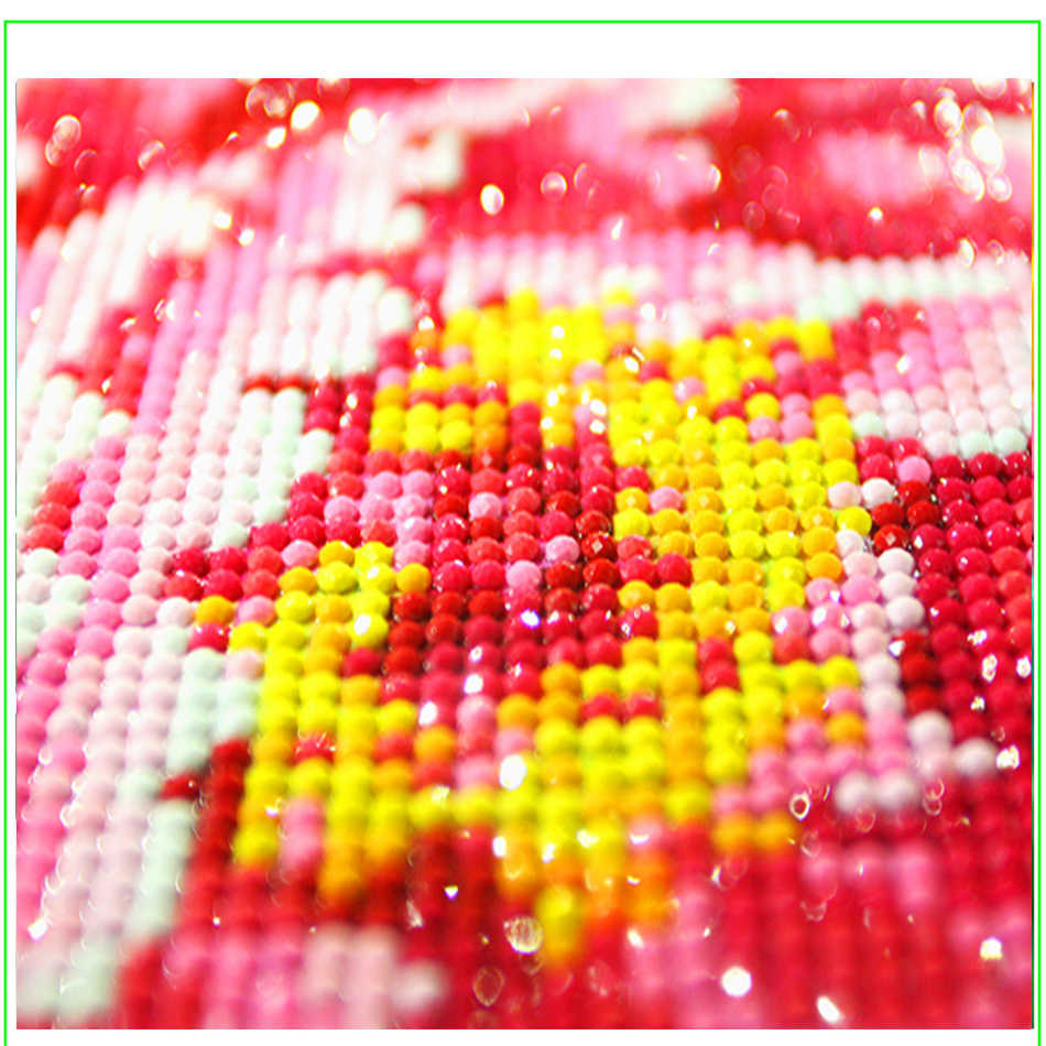 Fashion New Full Round Drill 5D DIY Diamond Painting Orchid Candles Stones Beauty Maintenance Shop Wall Art Pictures Home Decor
