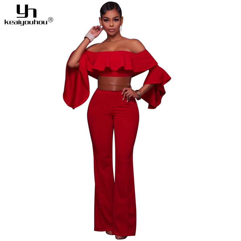 Jumpsuits Overall Women Long Red Promotion-Shop for Promotional ...