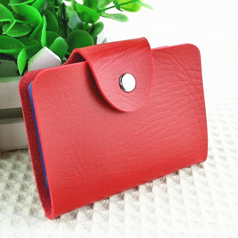 Μόδα Business Holder Card Holder Bags Leather Strap Buckle Bank Card Bag 24 Card Case ID Holder Επαγγελματική κάρτα Πορτοφόλια