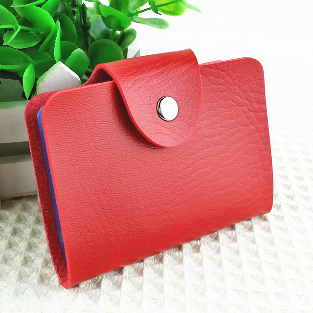 Korea fashion business credit card holder bags leather strap buckle korea fashion business credit card holder bags leather strap buckle bank card bag 24 card case colourmoves Images