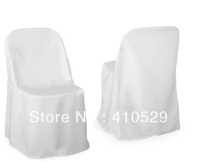 Polyester Chair Cover /Free Shipping / Folding Chair Covers/hotel Chair  Cover/white