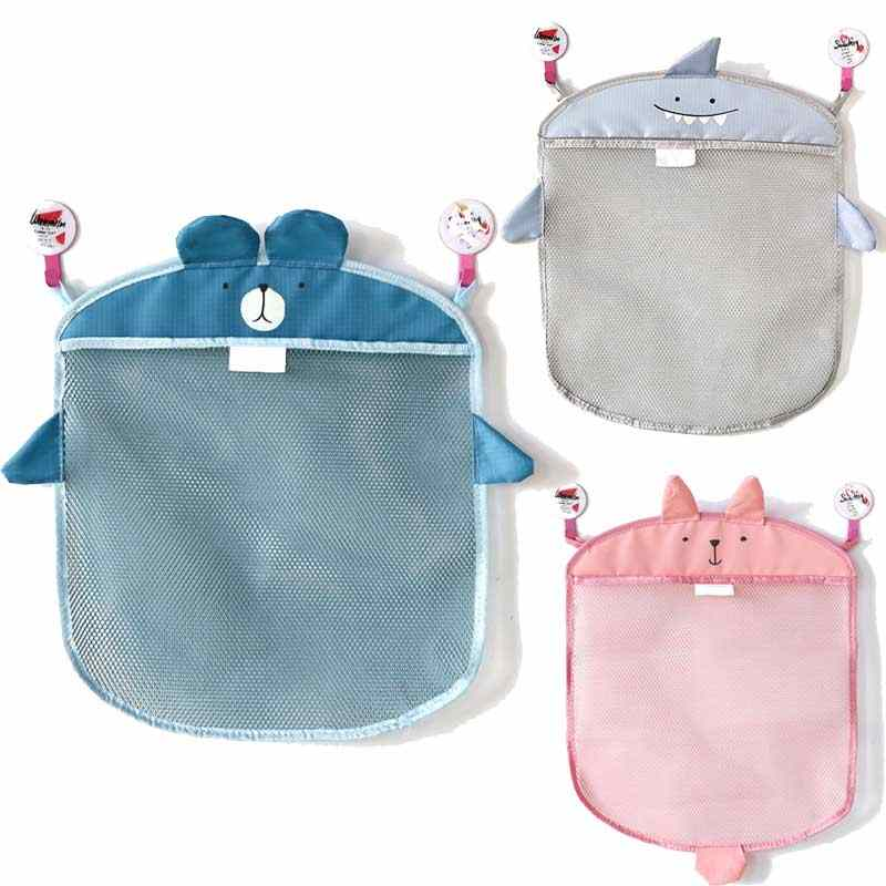 Hot Baby bathroom mesh bag for bath toys bag kids basket toys net cartoon animal shapes waterproof cloth sand toys beach storage