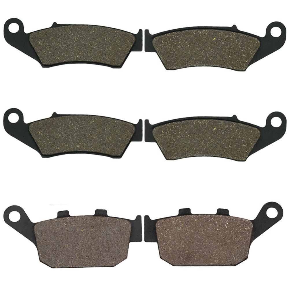 Cyleto Motorcycle Front and Rear Brake Pads for Honda XL600 Transalp 97-00 XL650 00-07 XL700 2008-2011 XRV750 Africa Twin 94-03 free shipping rear carbon kevlar brake pads 08 09 xl700 90 03 xrv750 africa twin 00 07 xl650 98 01 nt650 88 98 nt650 nx650