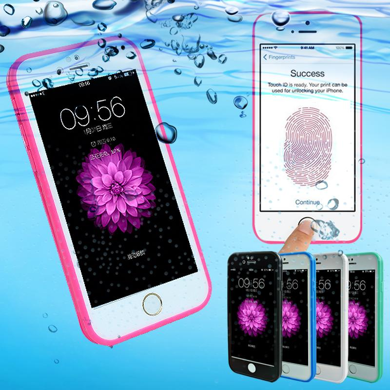 Fasion Candy Color wasserdichte Hülle für iPhone SE 5 5S 6 6S 7 Plus Handyhüllen Soft Silicone Rubber Shockproof Dustproof Cover