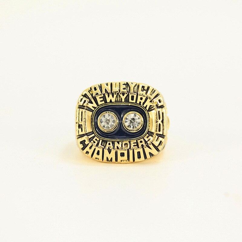 FGHGF2018 Hot Sale NHL New York Island Team Championship Ring Fashion High Quality Ring and Delicate Wood Box Gift