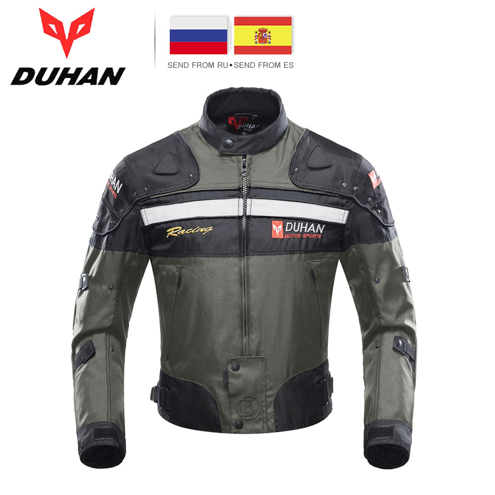 DUHAN Motorcycle Jackets Men Riding Motocross Enduro Racing Jacket Moto Jacket Windproof Motorbike Clothing Protective Gear все цены