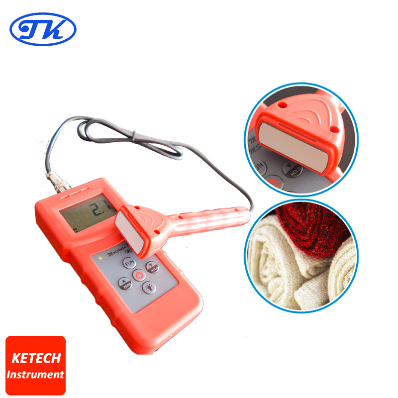 Portable Wood,Timber,Paper,Bamboo,Carton,Concrete,Textile Inductive Moisture Meter MS310S цена