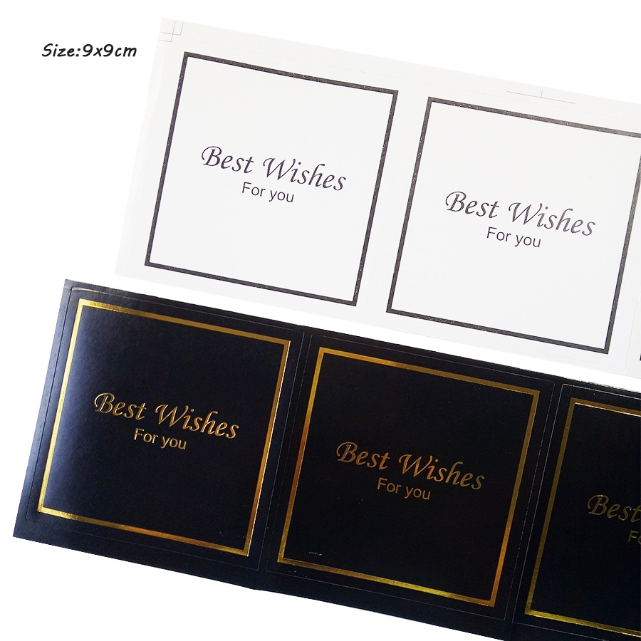 30Pcs/lot New Black & White Seal Sticker With  Best Wishes For You Cookie Baking Food Labels Hand Made Sealing Sticker