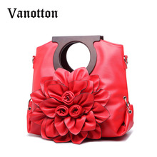 ใหม่2016ออกแบบผู้หญิงกระเป๋าดอกไม้สวยสุภาพสตรีหนังดอกไม้กระเป๋าสิริกระเป๋าสะพายสำหรับผู้หญิง