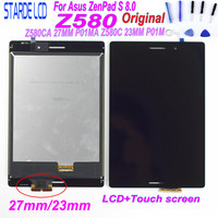 STARDE 8'' LCD for Asus ZenPad S 8.0 Z580 Z580CA Z580C 27MM P01MA 23MM P01M LCD Display Touch Screen Digitizer Assesmbly+ Tools