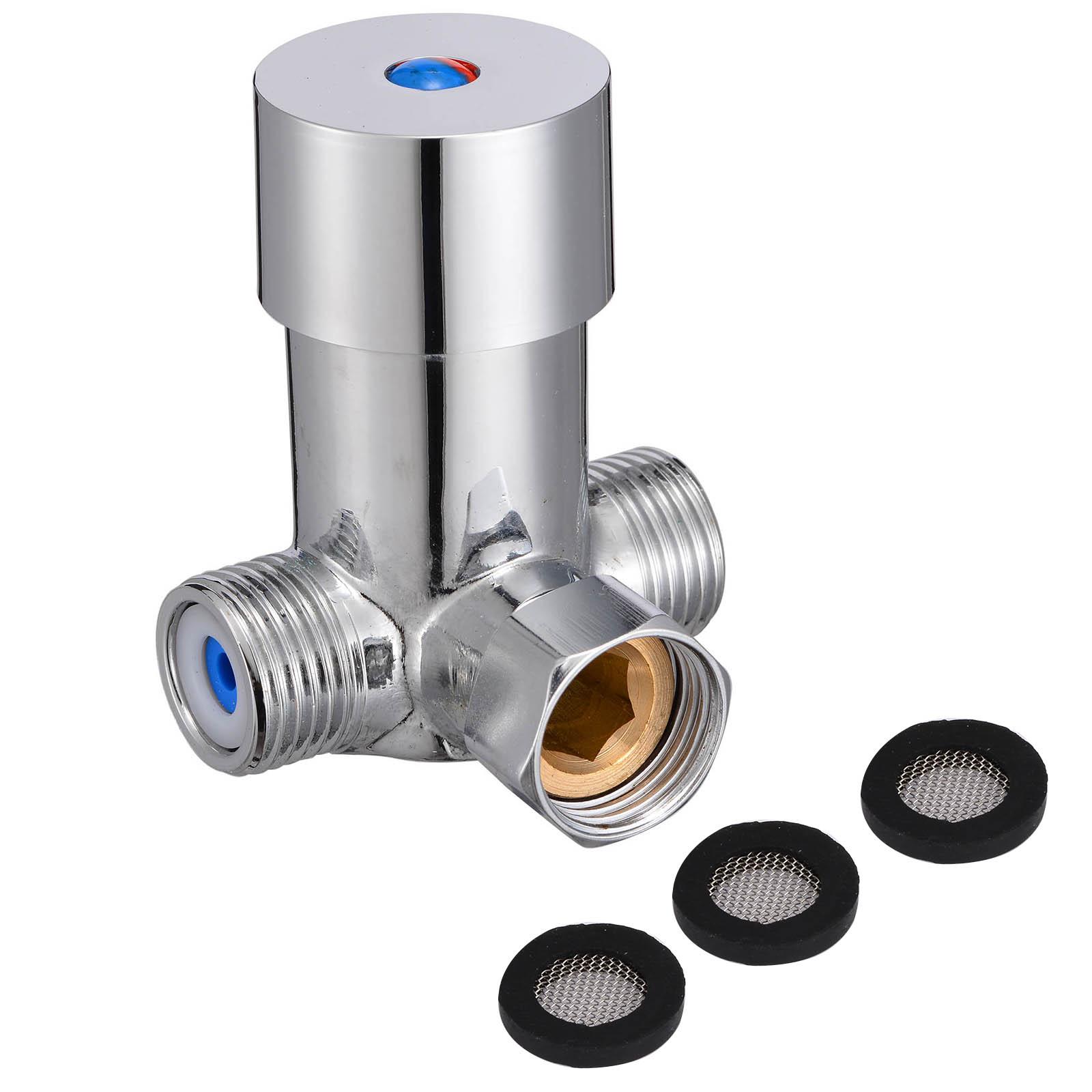Angemessen Heiß Kalt Wasser Ventil Wasserhahn Misch Ventil Temperatur Control Thermostat Sensor Tap Für Dusche Kopf Wasserhahn Wasserhähne Warmes Lob Von Kunden Zu Gewinnen