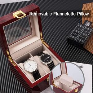 Image 5 - шкатулка для часов Роскошная деревянная коробка для часов, держатель для часов, коробка для мужских часов, стеклянный верх, ювелирный органайзер, коробка 2, 3, 5, 12 сеток, органайзер для часов, новинка, D40