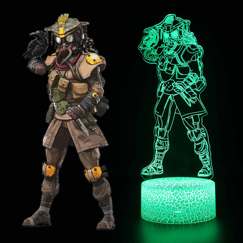 Image 4 - New 3D illusion Led Lamp Apex Legends Pathfinder Action Figure Night Light Protector For Kids Present APEX toys For Gamers-in Action & Toy Figures from Toys & Hobbies