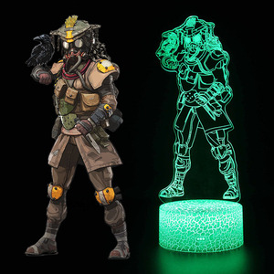 Image 3 - New 3D illusion Led Lamp Apex Legends Pathfinder Action Figure Night Light Protector For Kids Present APEX toys For Gamers